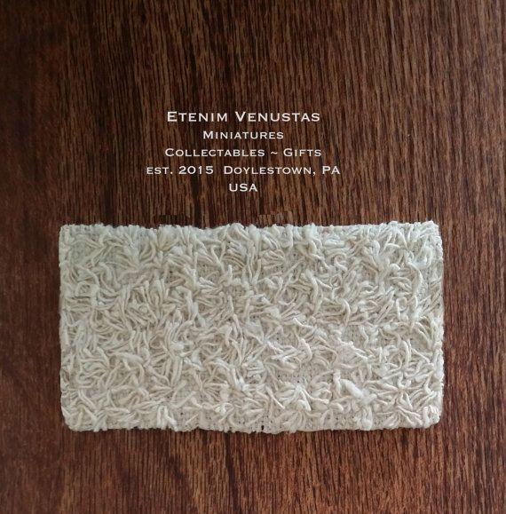Miniature Rug  Woven Cream Fluffy Rug  Miniature by EtenimVenustas