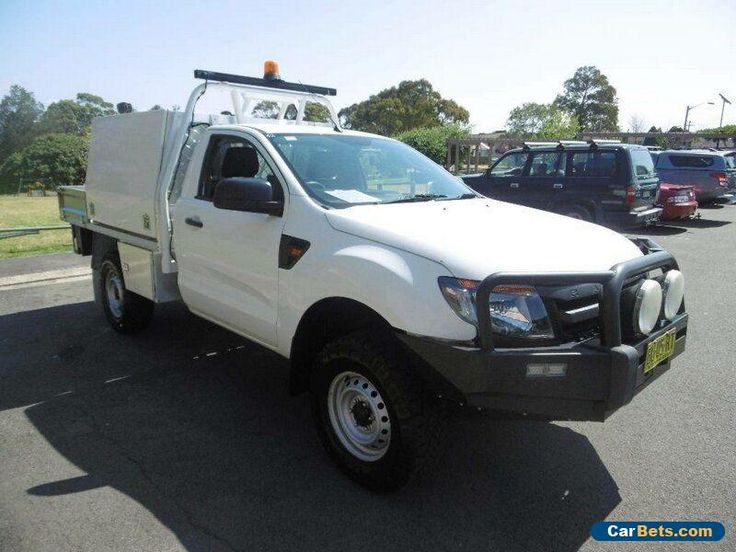 2013 Ford Ranger PX XL 3.2 (4x4) White Automatic 6sp A Cab Chassis #ford #ranger #forsale #australia