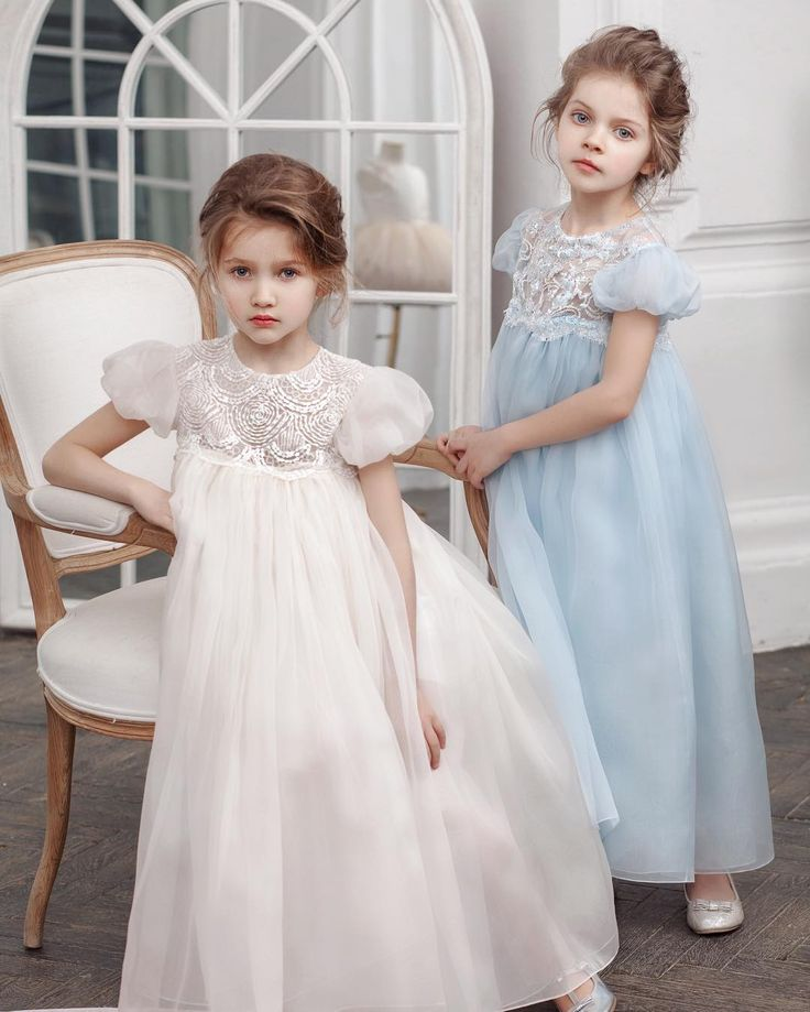 @bibiona_couture  Two poems, two sisters, two dresses. Organza and hand made embroidery on the new collection dresses by Bibiona Couture #babydress #bibiona #couture #organza