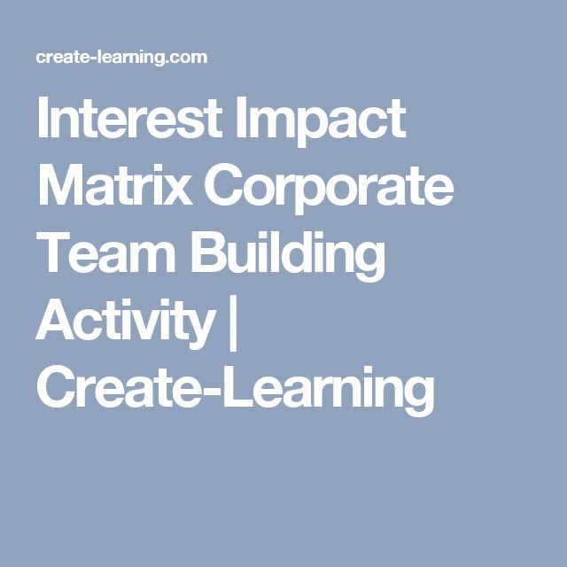 Interest Impact Matrix Corporate Team Building Activity | Create-Learning
