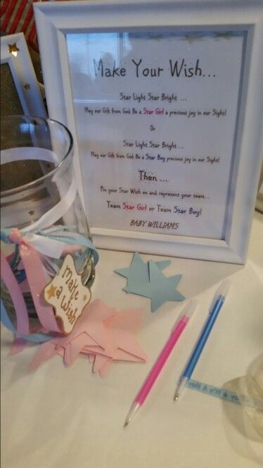 Twinkle Twinkle Little Star Gender Reveal Make a wish Girl or Boy
