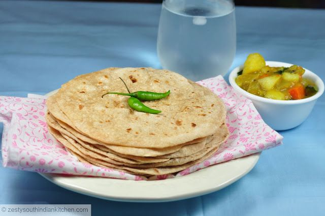 ... Chapati/Chapathi: Indian Whole wheat flat bread - Zesty South Indian