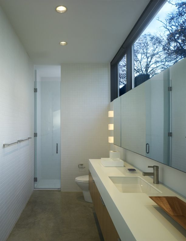 clerestory windows up high like that is a great idea for privacy and light.