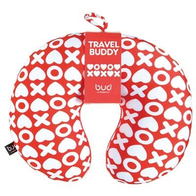 Red & White Hugs and Kisses neck #pillow for kids