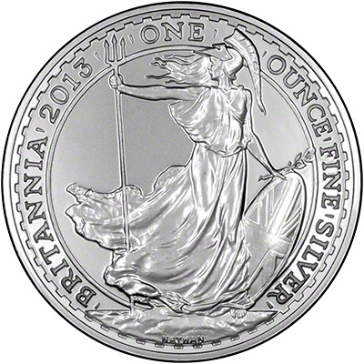 2013 Silver Britannia.  The first silver Britannia to be made from 0.999 silver - as opposed to .958 #mike1242 #silvernetwork #sellingcoins #isncoins