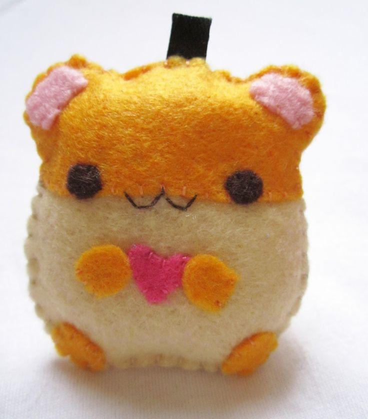 felt plushie templates - kawaii hamster felt plushie my crafts pinterest
