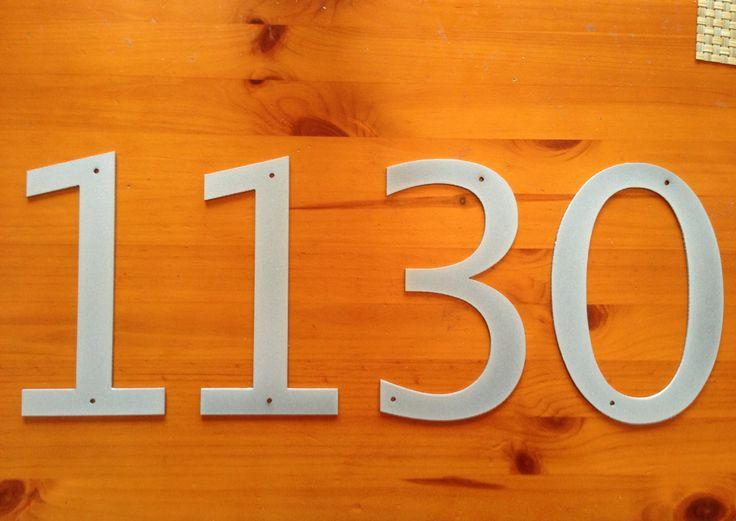 Custom Order mfrankiel 6 Metal House Numbers Moderne Etsy