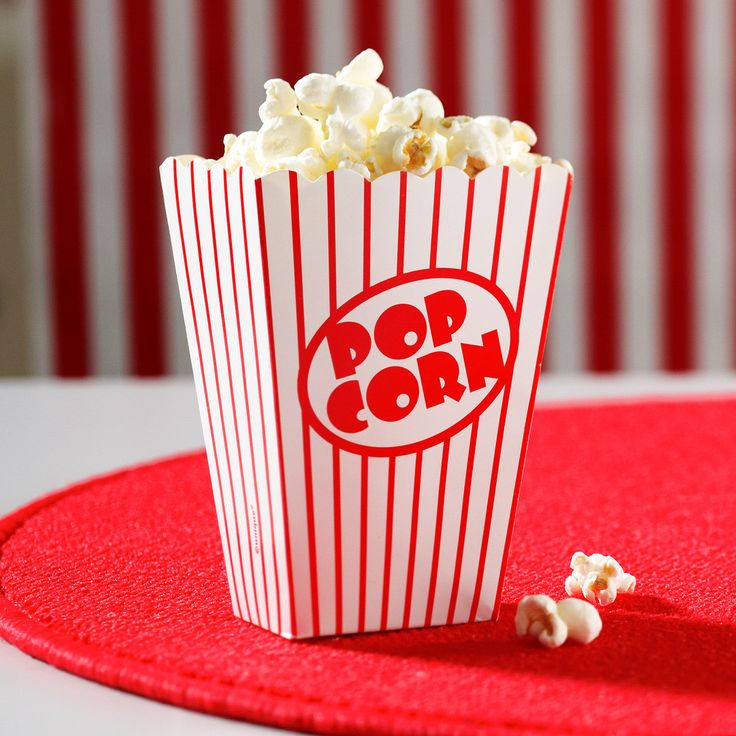 "Popcorn Boxes Includes 8 paper boxes that measure 5 1/2"" high. Weight (lbs) 0.19 Length (inches) 8 Width (inches) 6.75 Height(inches) 1"