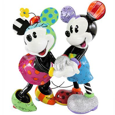 DISNEY FIGURINE - MICKEY MOUSE AND MINNIE MOUSE HOLDING HANDS