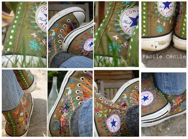 images about Embroidered Sneakers Sneakers