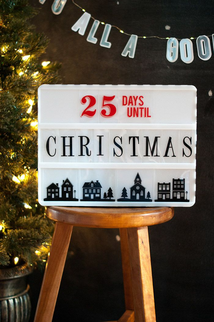 Heidi Swapp Christmas Lights Banners and Marquee with Lightbox