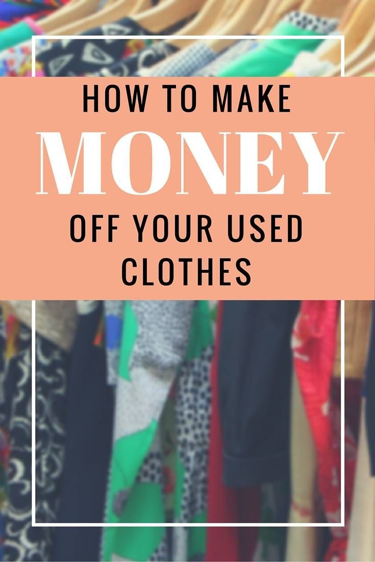 Make Money Recycling Old Clothes - LivingLesh // make some extra cash by selling your used clothes