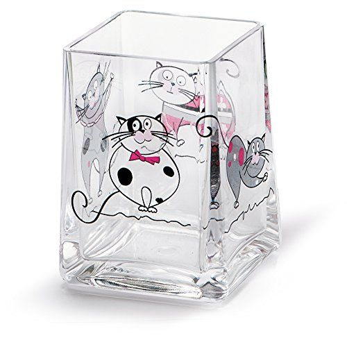 Get Off Now On Tatkraft Funny Cats Bathroom Tumbler Toothbrush Holder  Durable ShatterProof Acryl