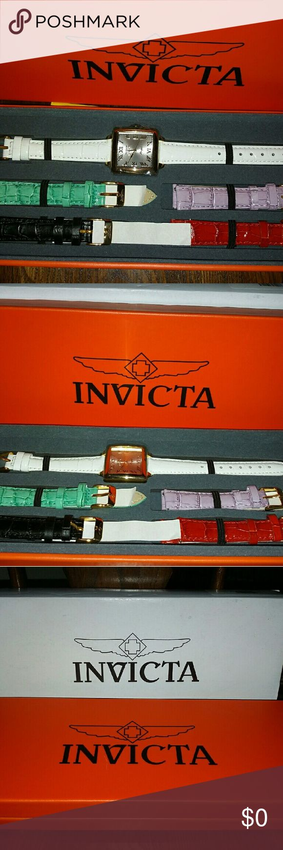 Invicta Womens Watch Brand New womens watch with interchageable wrist bands. In original box. Invicta Accessories Watches