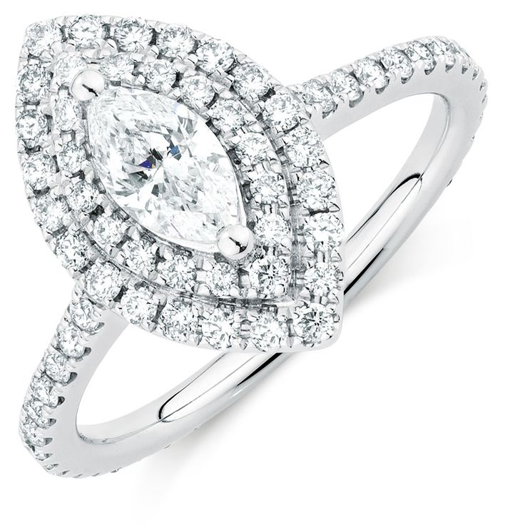 Michael Hill Designer Arpeggio Engagement Ring with 1 1/5 Carat TW of Diamonds in 14kt White Gold