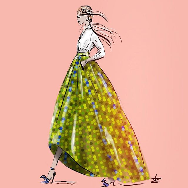 Amazing collection skirts designed by Giada Curti - Italian Fashiondesigner - sketch by Linda Zoon Another #stunning #fashion #design by #giadacurti @giadacurti #italian #fashiondesigner #italy seen at #arabfashionweek #dubai #dubaifashiontv #chic and #elegant adore this amazing #fabric #dessin #pattern @arabfashioncouncil @dubaifashiontv #instafashion #instagood #model #frontrow #inspirational sketch by #lindazoon