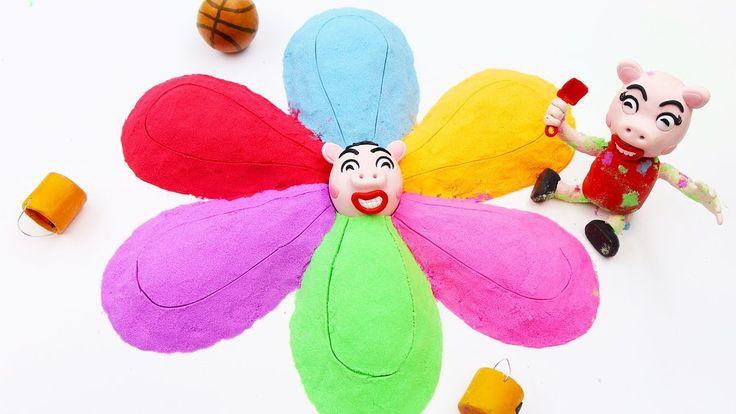 Peppa Pig Episodes GIANT Flower Kinetic Sand | Peppa Pig en Español Cart...