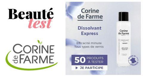 Testez gratuitement le Dissolvant Express de Corine de Farme