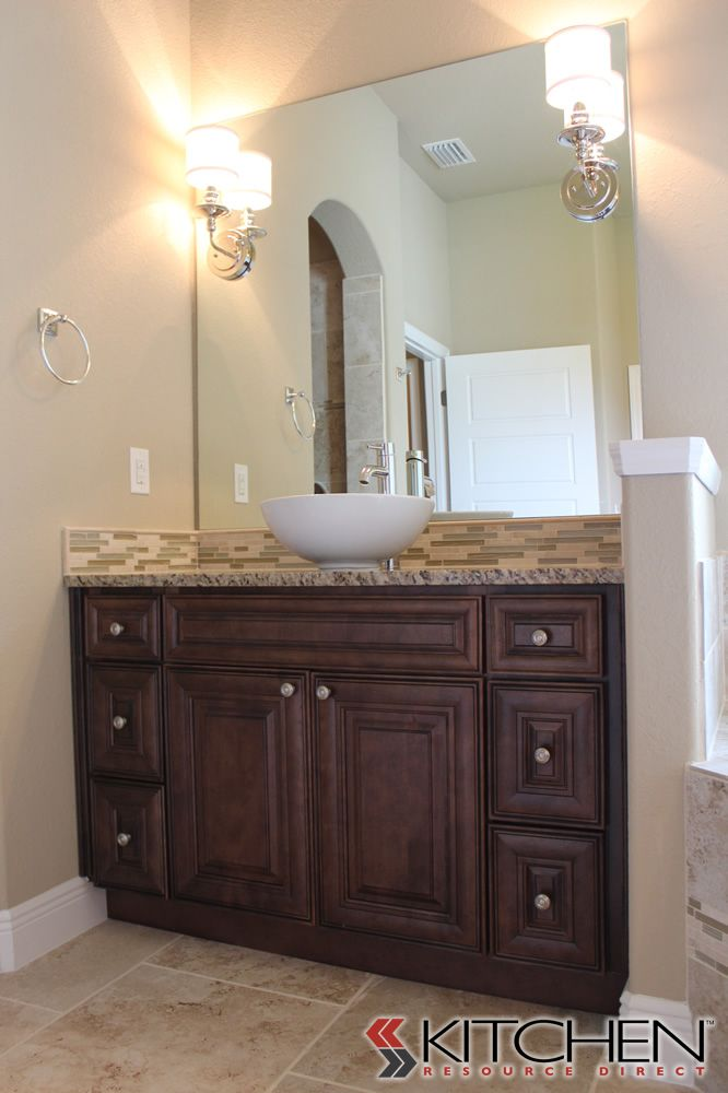 Vanity Mirror With Lights And Storage : A single vanity with plenty of storage, mirror mounted lighting, and a vessel sink. Bathrooms ...