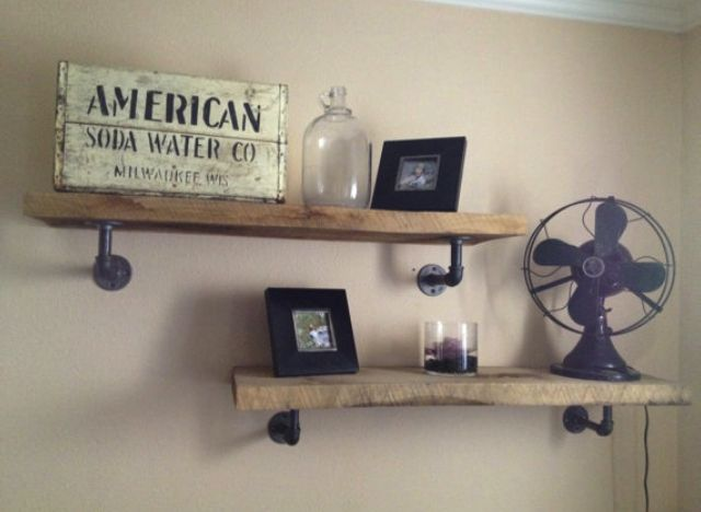 <b>Galvanized Pipe Shelves</b>