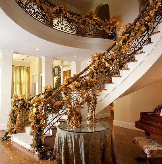 Discover Stylish Interior Design Ideas For Christmas London Beep Choose  Cheap And Fresh 20 Christmas Staircase Decorations Ideas And Photos.
