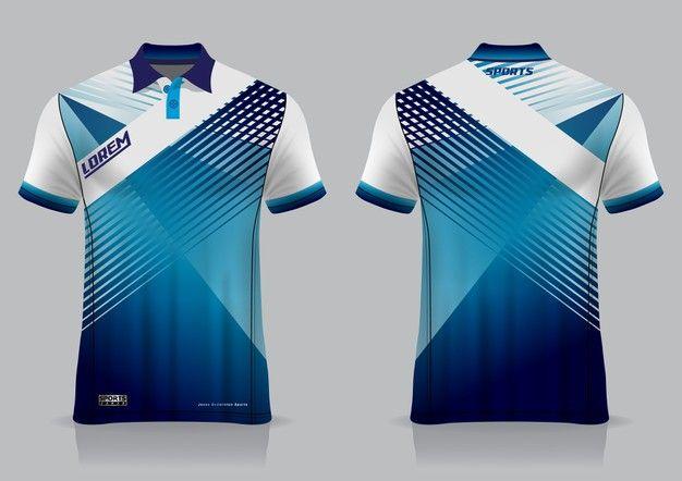 Download T Shirt Polo Sport Design Badminton Jersey Mockup For Uniform Template Polo Design Sports Tshirt Designs Sports Jersey Design