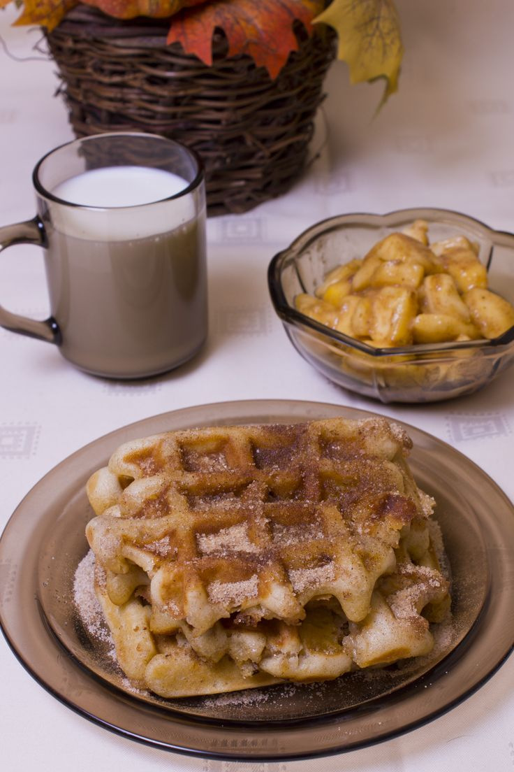 Almás pite gofri - Apple pie waffle