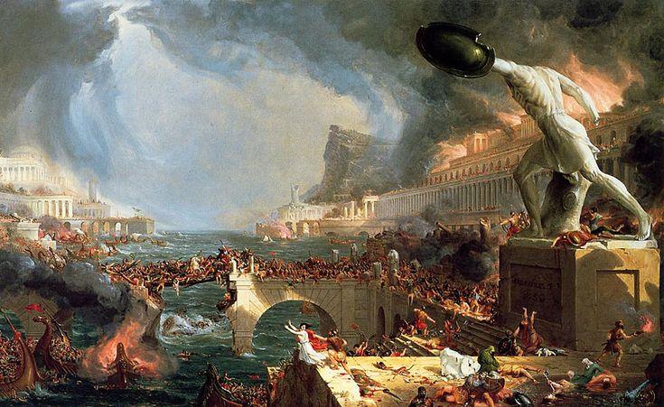 Thomas Cole - The Course of an Empire: Destruction (1836)