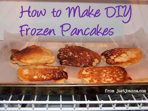 Breakfast in the Freezer: DIY Frozen Pancakes | Just Joanna