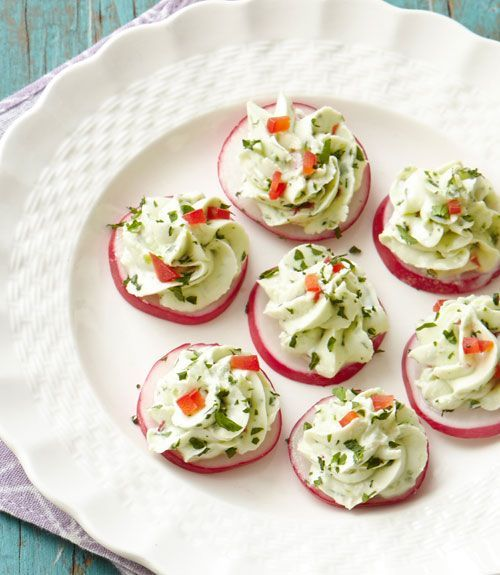 Radishes with Herbed Cheese