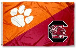 House Divided Flag - South Carolina vs. Clemson - The Rivalry To End All Rivalries.