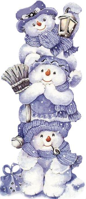 blue snowmen