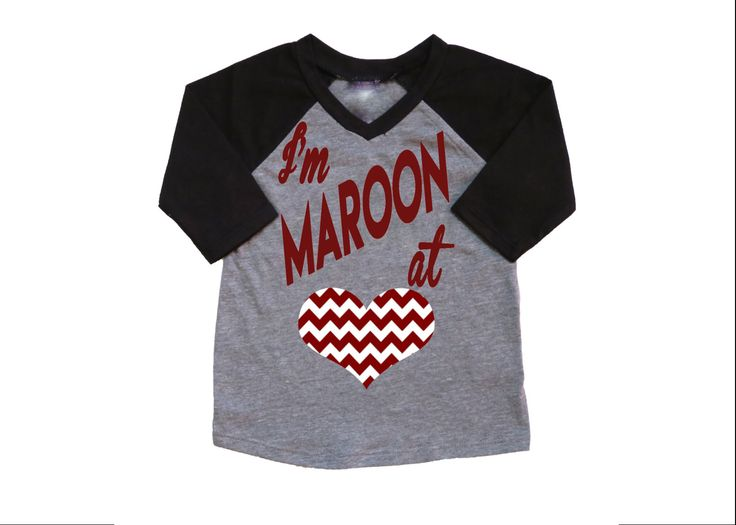 I'm Maroon at Heart/Texas A&M/ Aggie shirt/ Toddler Shirt/ Football Shirt by BeutiqueCreations on Etsy