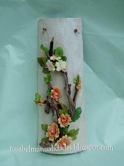 sandylandya@outlook.esRosabel manualidades: Tejas decoradas con pasta de porcelana