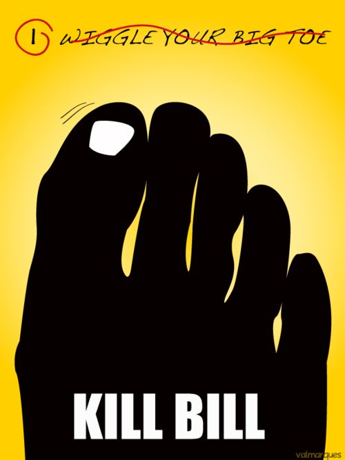 Kill Bill minimalist movie poster