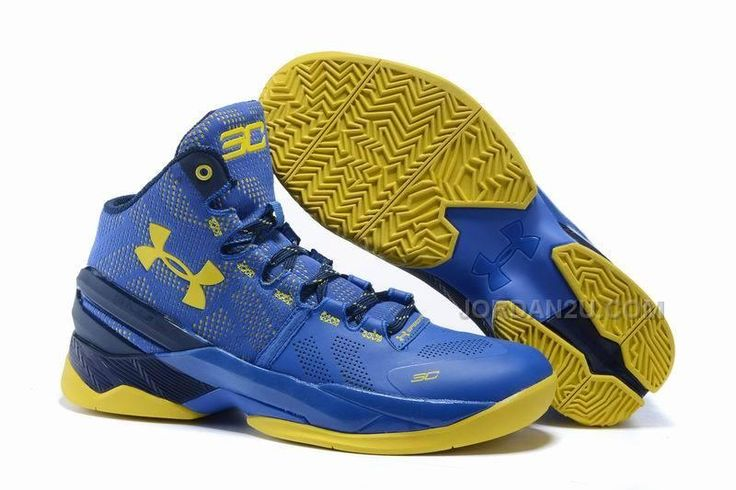 Under Armour UA Curry 2 Two Dub Nation royal blue and yellow