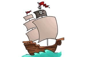 How to draw a pirate ship for kids.Have you tried doing a boat drawing before? We now share to you the simple and step b step art guide on how to draw a pirate ship for kids. You only need to do all the instructions and you will be able to create a realistic cartoon pirate ship drawing. The initial step is to draw a half-moon shape boat sailing on the water. Inside the ship drawing, draw thin lines attached on the body. You finished two steps already from the online video guide how to draw…