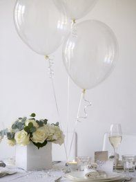 Clear balloons - who'd have thought?