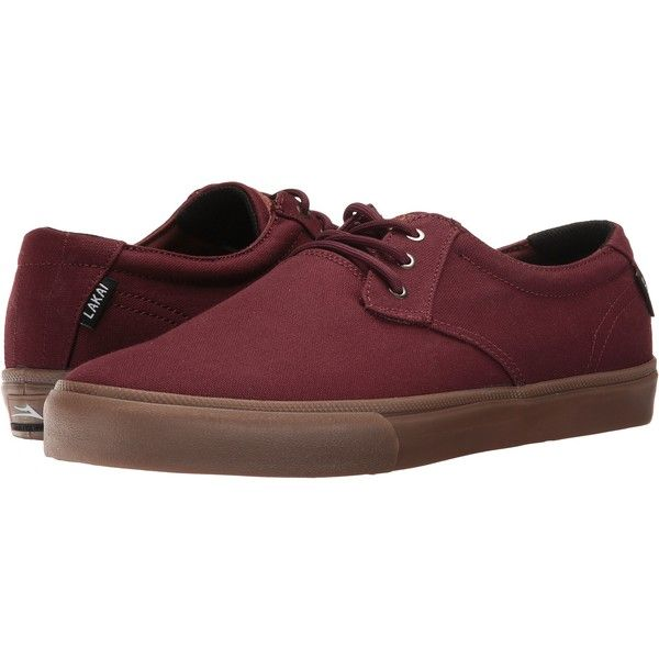 Lakai Daly (Mahogany Canvas) Men's Shoes (£24) ❤ liked on Polyvore featuring men's fashion, men's shoes, men's sneakers, pink, mens canvas shoes, mens sneakers, mens canvas sneakers, mens pink sneakers and mens pink shoes