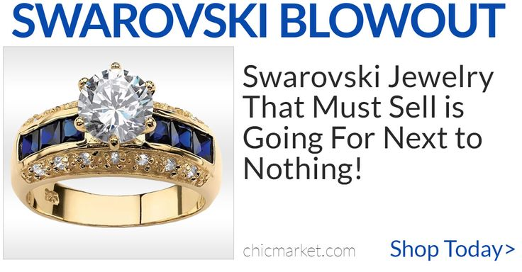 Swarovski Blowout. Overstock Jewelry Selling For Next To Nothing. Save 90%! Limited Supply. Shop Now!
