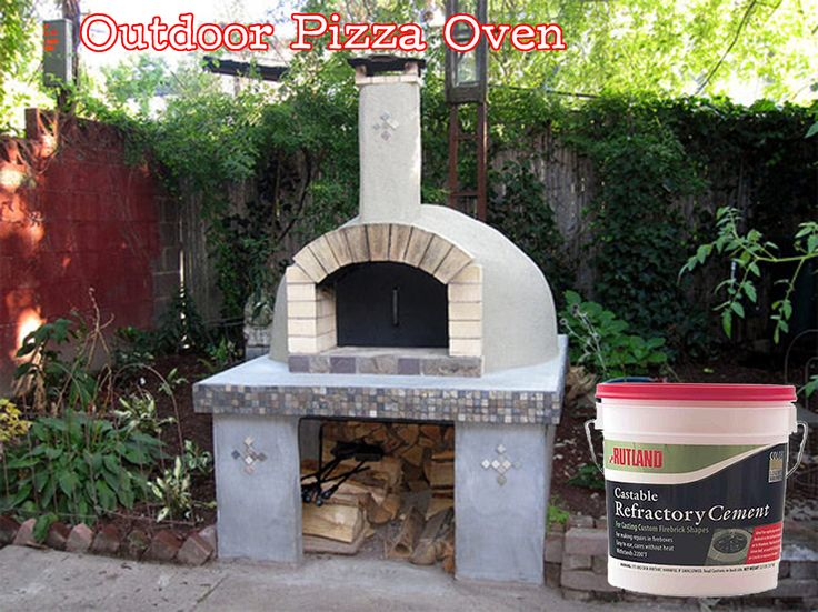 Rutland's Castable Refractory Cement is a great product for making your own outdoor pizza oven! You can find it online at www.rutland.com