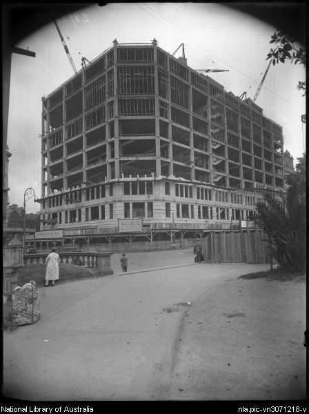 View of David Jones construction, Elizabeth St, Sydney