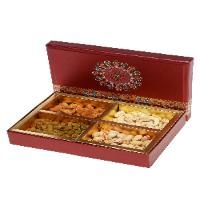 Item : Dry Fruit Box - 400GM's  Description : Four variety Dry Fruit's (100 GM's  Each) in Fancy Box. Gifts for Brother's & Sister's.  Note : - Guaranteed delivery on Rakshabandhan Day. Free  Rakhi Greeting Card. Free Rakhi if order is for Brother's. Vendor : Chandu Mithaiwala or similar. Delivery To : Mumbai & Pune City.