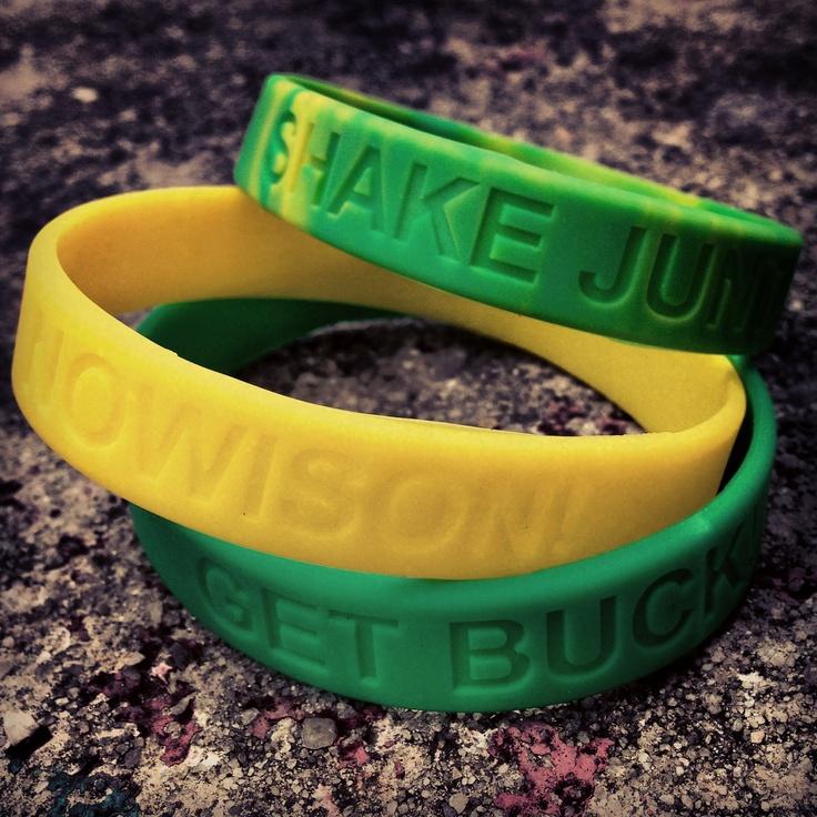 Shake Junt silicone bracelets.  Rm10 each