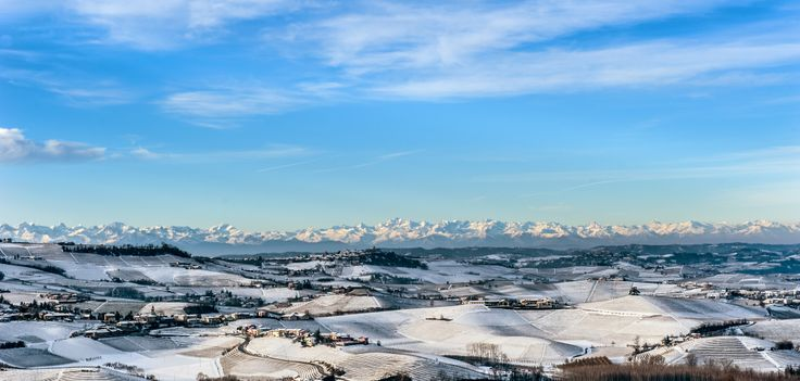 Langhe snow-covered