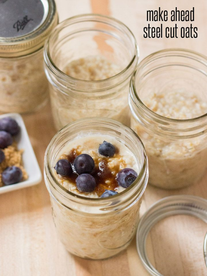 How to Make Ahead Steel Cut Oats for Breakfast All Week - if you're really sensitive to gluten, just be sure be sure that the oats are labeled gluten free!