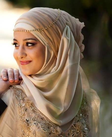 light and creamy hijab