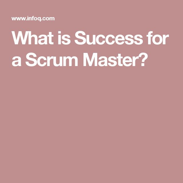 What is Success for a Scrum Master?