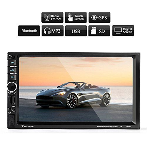 ExGizmo 7'' HD Car Bluetooth GPS Navigation Stereo Radio 2 DIN FM/MP5/MP3/AUX + Camera+ remote control. For product info go to:  https://www.caraccessoriesonlinemarket.com/exgizmo-7-hd-car-bluetooth-gps-navigation-stereo-radio-2-din-fmmp5mp3aux-camera-remote-control/