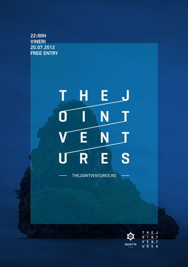 poster | The Jointventures by Zorán Győrfi #typography